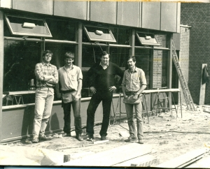 Bouw clubhuis 1985 A