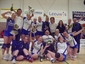 Dames 1 kampioen 1e divisie 2005