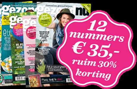 gezondNU-abowerf 12 nummers € 35,-