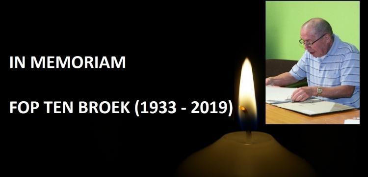 Fop ten Broek overleden